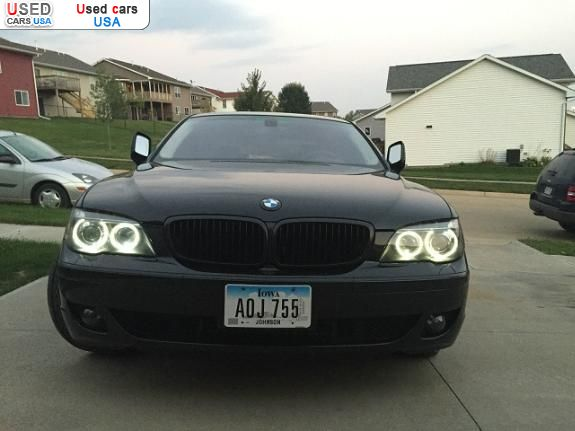 for sale 2007 passenger car bmw 7 series coralville insurance rate quote price 13900 used cars. Black Bedroom Furniture Sets. Home Design Ideas