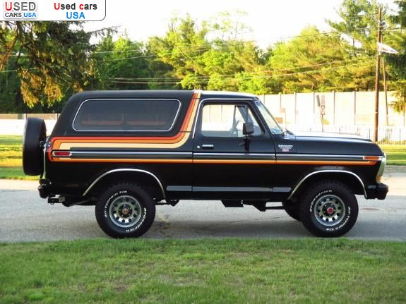 For Sale 1979 Passenger Car Ford Bronco Ranger Xlt