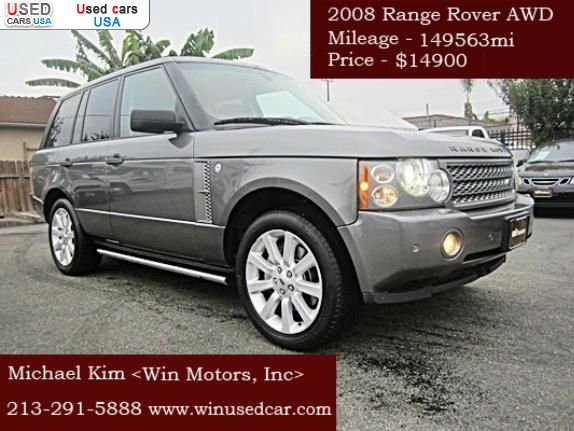 for sale 2008 passenger car land rover range rover los angeles insurance rate quote price. Black Bedroom Furniture Sets. Home Design Ideas