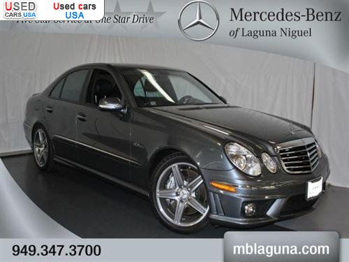 For sale 2009 passenger car mercedes e benz 6 3l amg for Mercedes benz laguna niguel ca