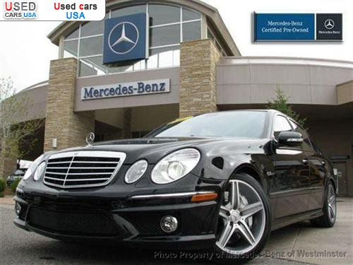 For sale 2007 passenger car mercedes e benz 6 3l amg for Mercedes benz insurance cost