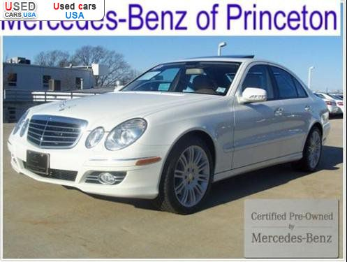 For sale 2008 passenger car mercedes e benz awd for Princeton mercedes benz used cars