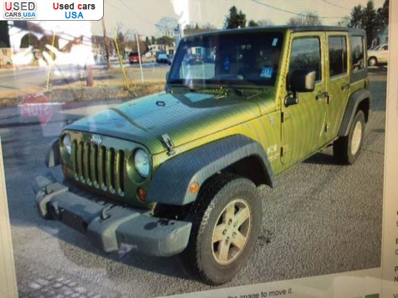 for sale 2008 passenger car jeep wrangler 3 8 unlimited x 4x4 yonkers insurance rate quote. Black Bedroom Furniture Sets. Home Design Ideas