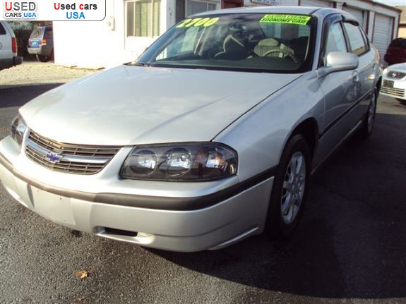 Car Market in USA - For Sale 2001  Chevrolet Impala Base