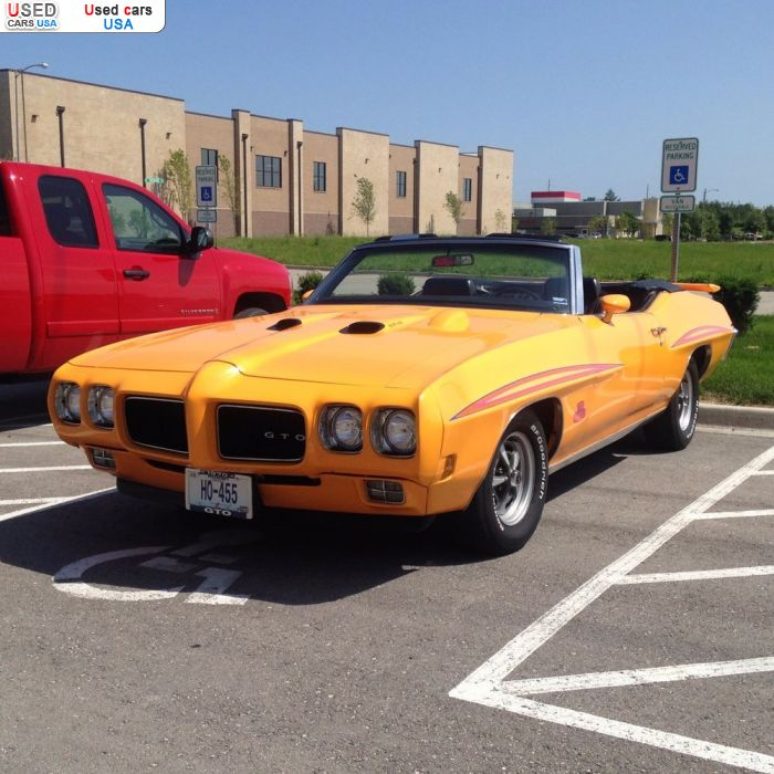 Car Market in USA - For Sale 1970  Pontiac GTO