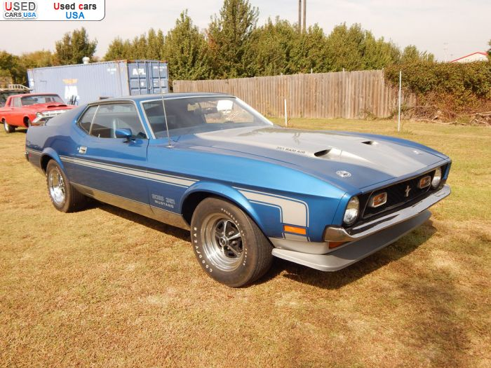 Car Market in USA - For Sale 1971  Ford Mustang