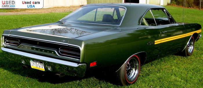 Car Market in USA - For Sale 1970  Plymouth GTX
