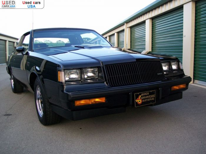 Car Market in USA - For Sale 1987  Buick Grand National
