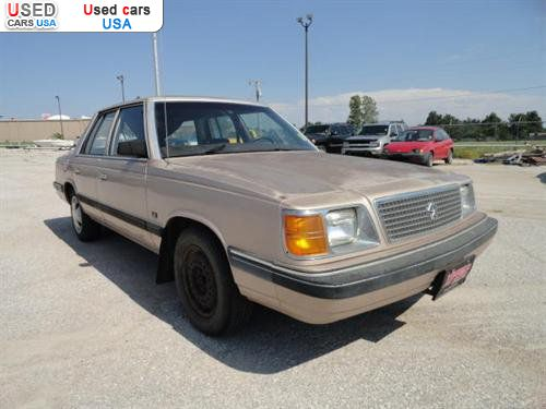 Car Market in USA - For Sale 1989  Plymouth Reliant LE