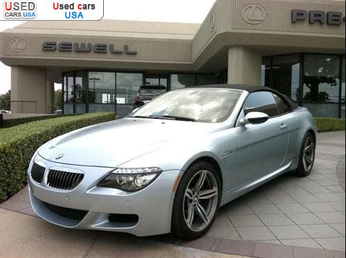 For Sale 2008 passenger car BMW M6 Convertible Dallas insurance