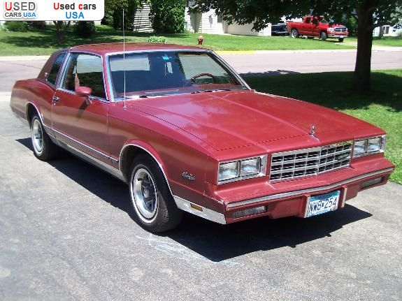 For Sale 1984 passenger car Chevrolet Monte Carlo, Waseca ...