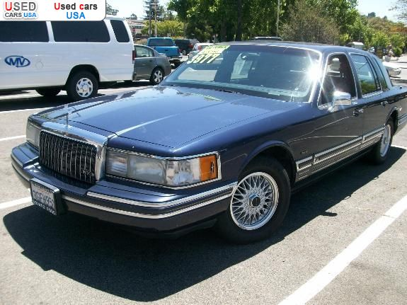 for sale 1994 passenger car lincoln town car novato. Black Bedroom Furniture Sets. Home Design Ideas